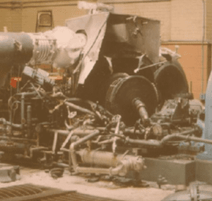 Overspeed event in a small steam turbine