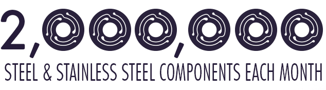 Two million stainless steel components