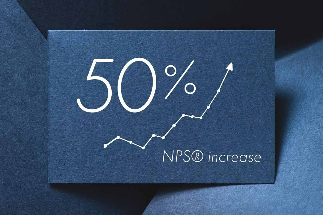 50% Net Promoter Increase