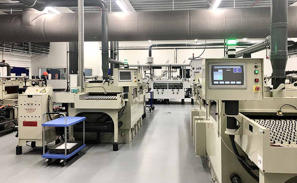 Precision Micro's etching department
