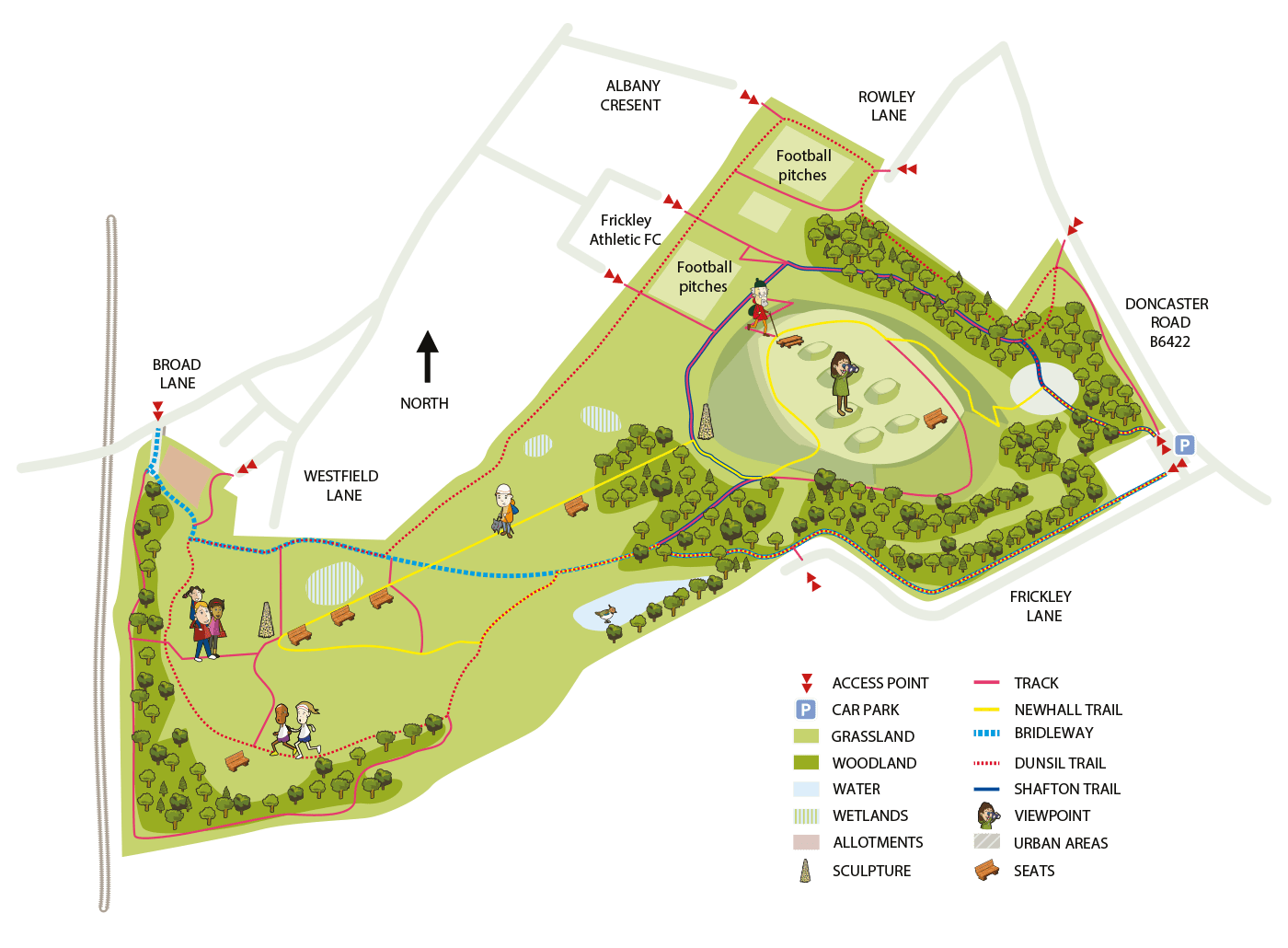 Map of Frickley Country Park