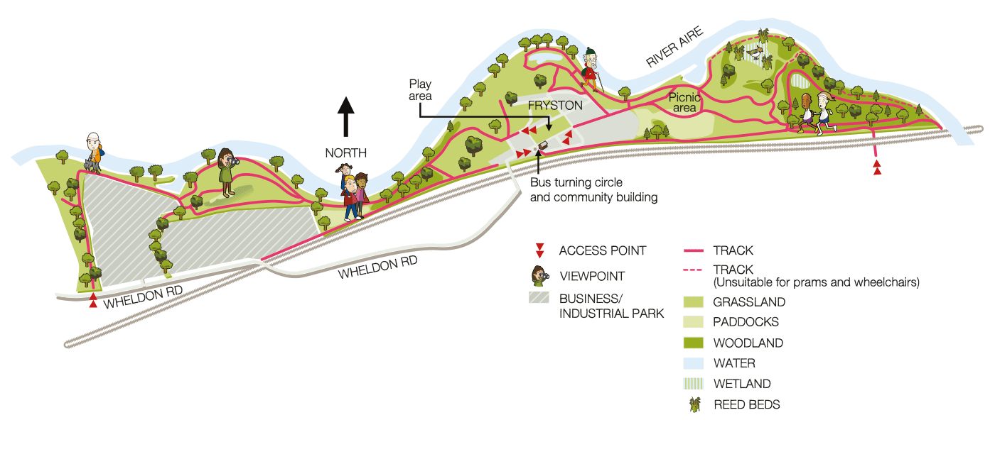 Map of Fryston Country Trails