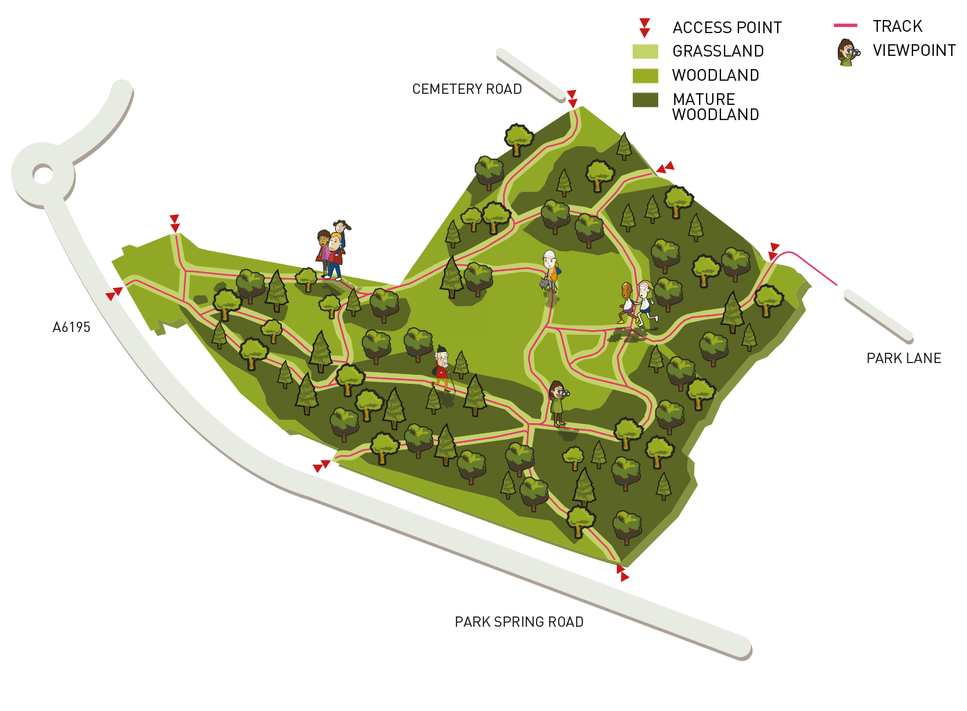 Map of New Park Springs