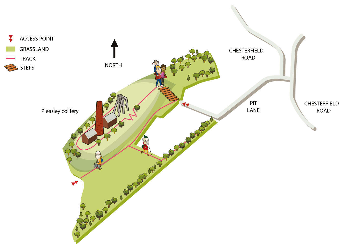 Map of Pleasley Pit