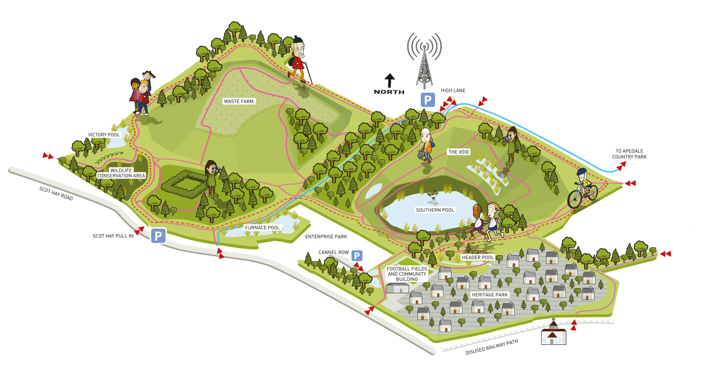 Map of Silverdale Country Park