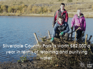 Silverdale Country Park is worth £82k a year in water quality improvements