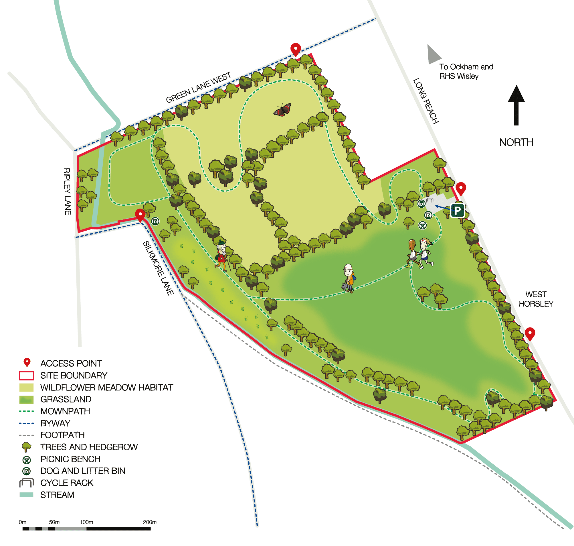 Map of Horsley Meadows